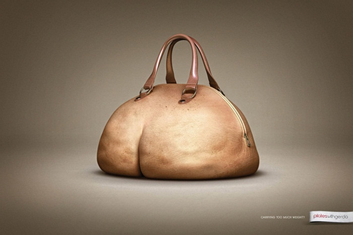 Chiếc túi sách hình cặp mông phát phì này là hình ảnh quảng cáo của Pilates tại Thổ Nhĩ Kỳ. Chỉ có thể nói rằng các phù thủy Photoshop có tay nghề rất cao với bức ảnh này.