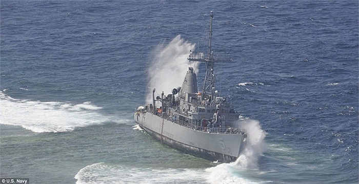 Ước tính, tàu USS Guardian gây thiệt hại khoảng 4.000 mét vuông san hô