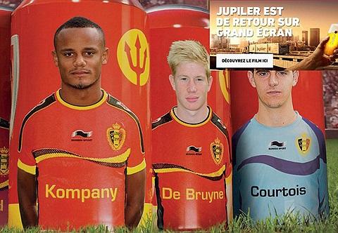 Hãng bia Bỉ Jupiler tung ra thị trường lô sản phẩm đặc biệt có in hình đội tuyển quốc gia nước này