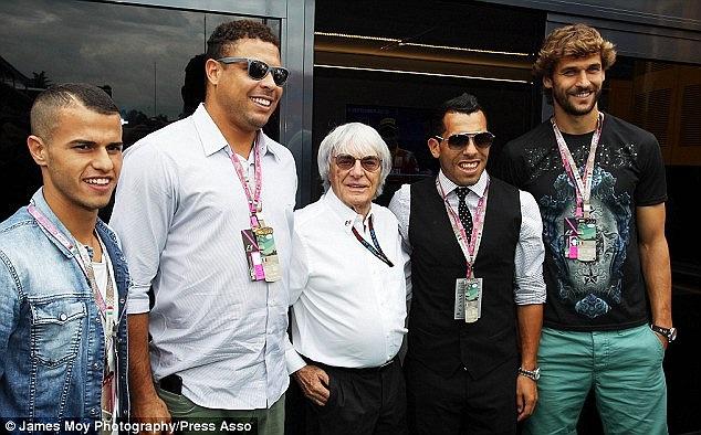 Ronaldo, Tevez, Giovinco đến trường đua Monza để chứng kiến vòng đua cuối cùng của F1 mùa năm nay trên đất châu Âu