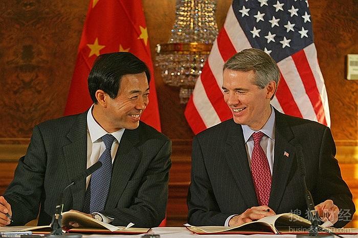 Ngày 8/11/2005,Bộ trưởng thương mại Trung Quốc Bạc Hy Lai cùng đại diện thương mại Mỹ Rob Portman ký Hiệp định Thương mại dệt may Mỹ-Trung tại London