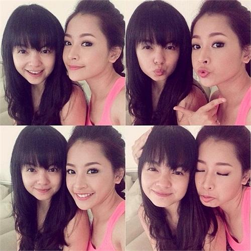 Phạm Quỳnh Anh xì tin cùng Chi Pu.