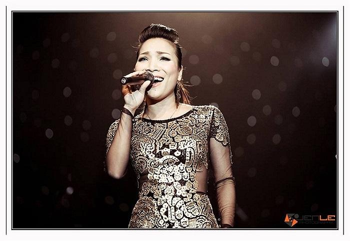 Hồng Ngọc phiêu trên sân khấu ca nhạc.