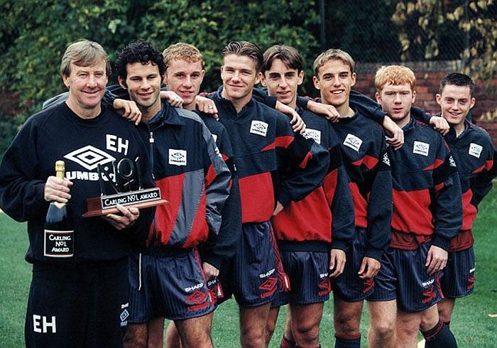 Beckham nằm trong lứa cầu thủ tài năng được MU giới thiệu vào năm 1992