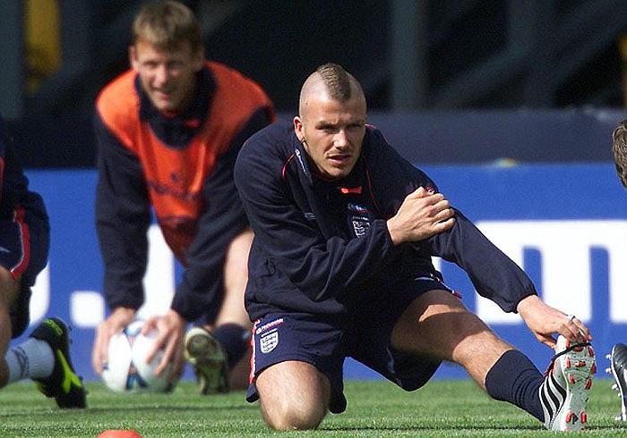 Không chỉ thăng hoa trong màu áo Quỷ đỏ, Beckham còn được tín nhiệm ở tuyển Anh