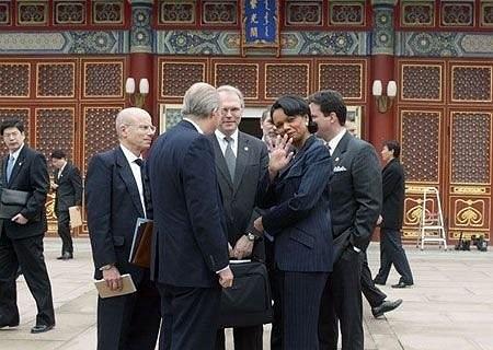 Cựu ngoại trưởng Mỹ Condoleezza Rice trong một buổi làm việc tại Nam Trung Hải.
