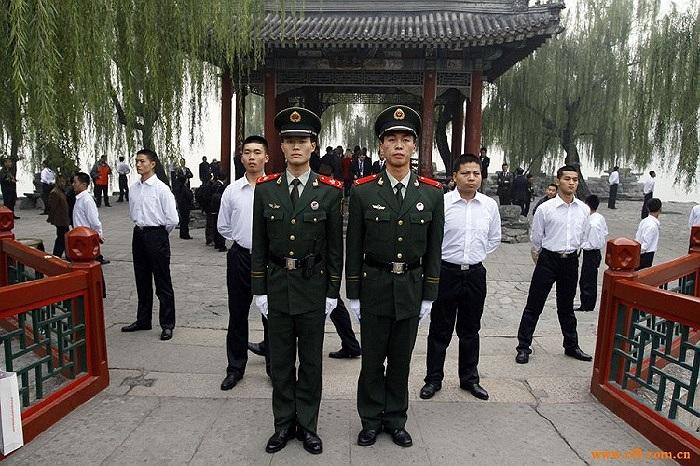 Lực lượng vệ sỹ tại Trung Nam Hải.
