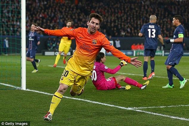 Niềm vui của Messi.
