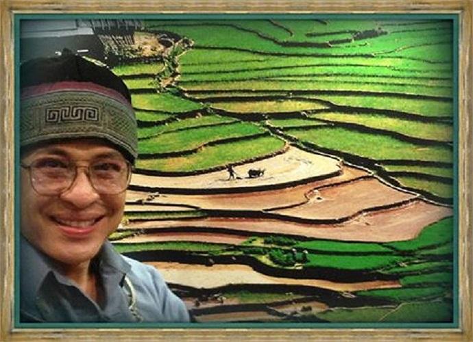 MC Thanh Bạch và bức họa đồng quê, những thửa ruộng bậc thang đẹp như tranh vẽ .