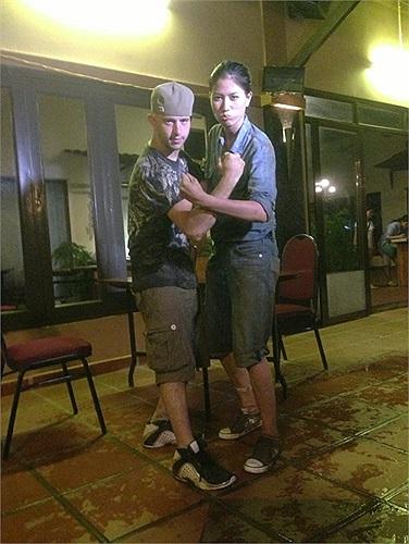 Trang Trần khoe ảnh bầm dập vì quay hình chương trình Bạn đường hợp ý.
