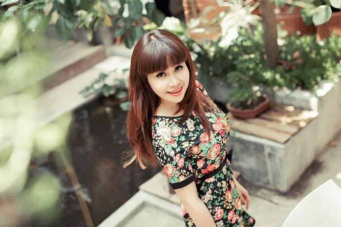 Lưu Thiên Hương trong trẻo và xinh đẹp trong bộ ảnh mới.