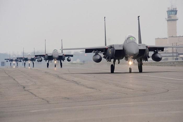 Các chiến cơ F-15K Slam Eagle của Không quân Hàn Quốc