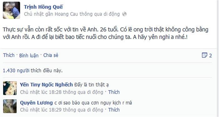 Wanbi Tuấn Anh để lại niềm tiếc nhớ cho bao người.