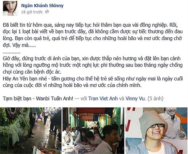 Ngân Khánh coi Wanbi Tuấn Anh như tấm gương sáng của cuộc đời.
