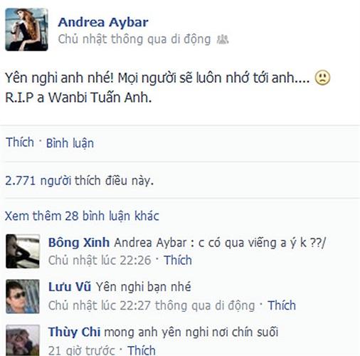 Andrea sẽ luôn nhớ tới Wanbi Tuấn Anh.