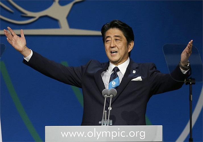Ông khẳng định cam kết của chính phủ Nhật Bản sẽ dành tất cả những điều kiện tốt nhất cho Thế vận hội mùa hè 2020. Khoản đầu tư của Nhật sẽ vào khoảng 5-6 tỷ USD cho các hạng mục cơ sở vật chất, an ninh và tổ chức thi đấu