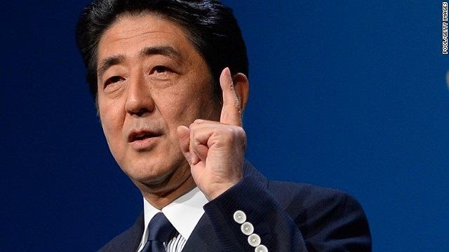 'Nhật Bản cần sức mạnh của thể thao. Chúng tôi cần hi vọng và ước mơ. Niềm hạnh phúc ngày hôm nay còn lớn hơn ngày tôi thắng cử chức thủ tướng'.