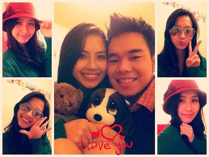 Miss Teen Huyền Trang hạnh phúc bên ông xã Triệu Hoàng.