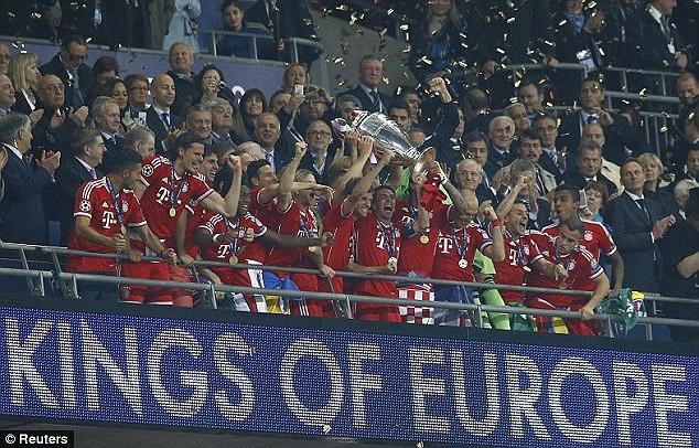 Bayern giành chức vô địch Champions League 2013.