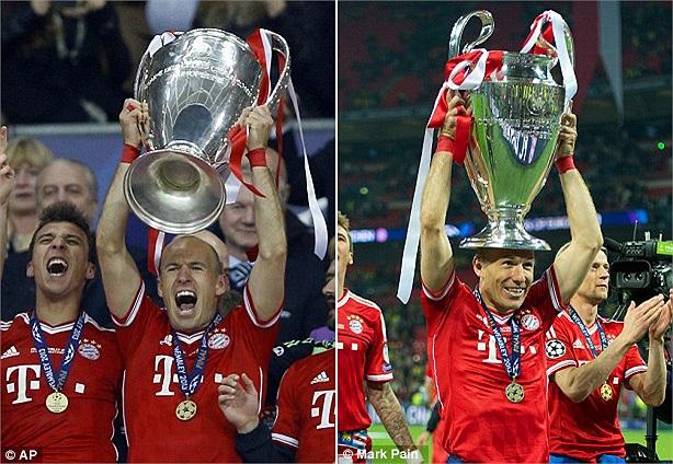 Khoảnh khắc của Robben. Bayern đã thống trị châu Âu bằng cái chân trái rất dị của Robben.