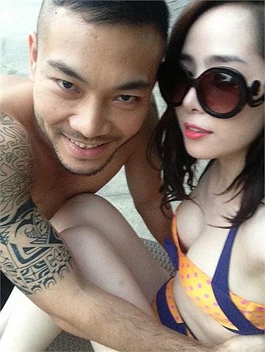 Quỳnh Nga hạnh phúc bên bạn trai Doãn Tuấn.