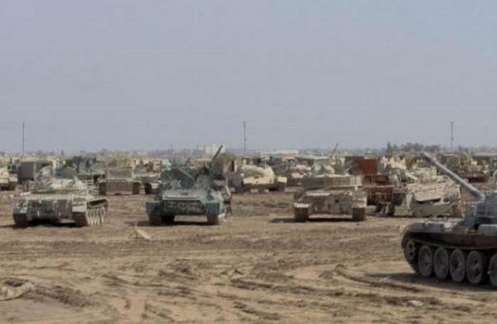 Đây là những gì còn sót lại của quân đội Saddam Hussein. Phần lớn đã bị phá hủy và tháo dỡ nhiều bộ phận chính.