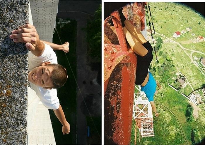 Đu người mạo hiểm trên các công trình cao chót vót