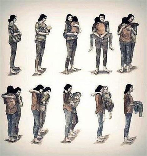 Nhìn lại quá trình thấy được công mẹ thật lớn lao.