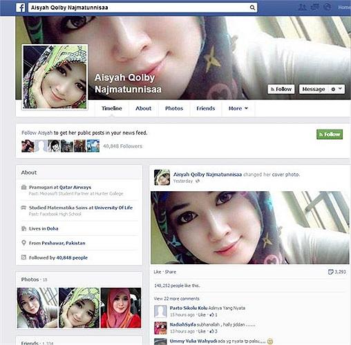 Một cô gái sở hữu vẻ đẹp hoàn hảo được cho là có tên Aisyah Qolby Najmatunnisa đến từ Pakistan đang khiến cộng đồng mạng xã hội sôi sục mấy ngày gần đây.