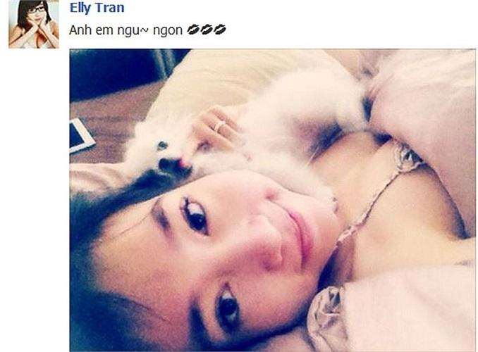 Elly Trần chúc ngủ ngon cũng phải gợi cảm.
