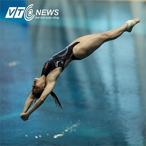Đây là giải đấu quan trọng nhất trong năm của các VĐV nhảy cầu Việt Nam khi mà cuối năm nay, SEA Games 27 tại Myanmar, Nhảy cầu không có trong nội dung thi đấu. (Ảnh: Hải Thịnh)