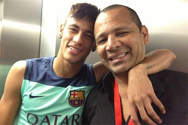 Neymar và bố.