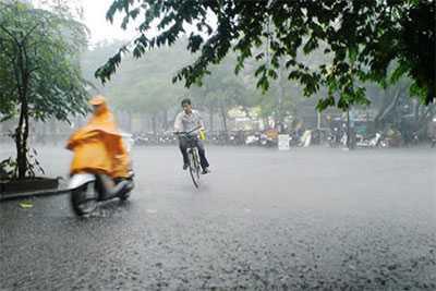 mưa dông ở bắc bộ vtc