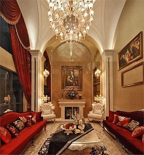Phòng khách đẹp lung linh của gia đình Triệu Vy.
