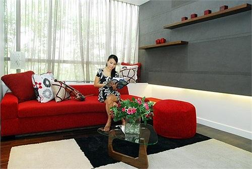 Vợ chồng Cẩm Ly đặc biệt thích không gian yên tĩnh ở khu đô thị mới này.