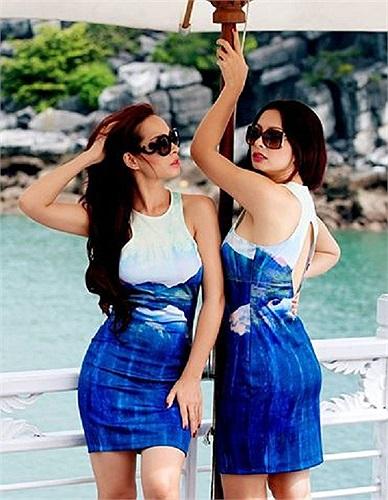 Thúy Hằng - Thúy Hạnh, cặp siêu mẫu song sinh nổi tiếng đọ dáng.