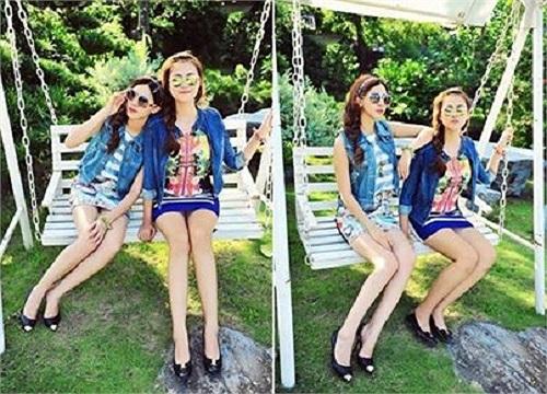 Hai hotgirl Hà thành: Hà Lade, Hà Min cùng xuất hiện trong một bộ ảnh.