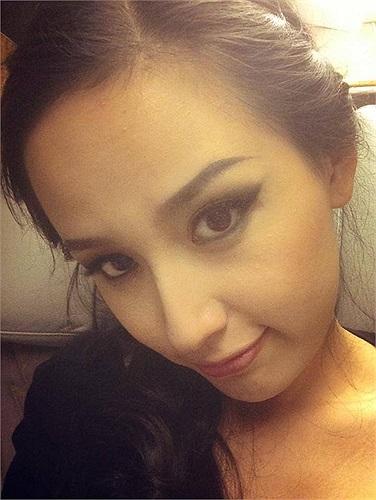 Cận cảnh nhan sắc Hoa hậu Mai Phương Thúy.