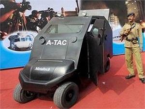 Các chuyên viên công nghiệp quốc phòng Ấn Độ đã chế tạo một chiếc xe tăng có kích thước rất nhỏ và có thể xem là chiếc xe bọc thép nhỏ nhất thế giới tính đến thời điểm này. Trọng lượng của chiếc xe là 1.100 kg, cho phép chuyên chở trọng lượng tối đa