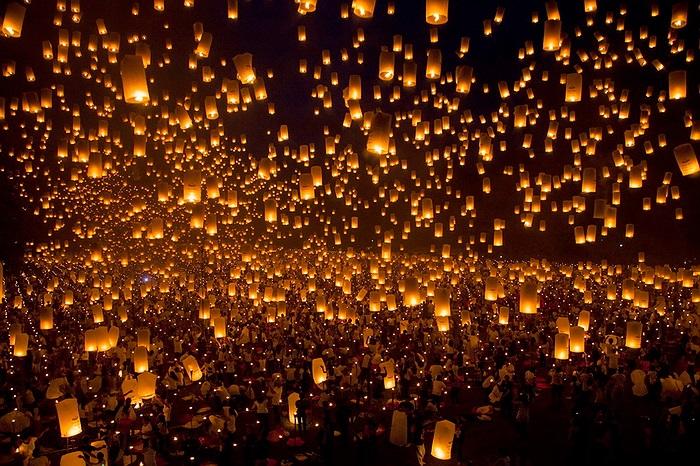 Kỷ lục Guinness về đèn lồng được thả đã ghi nhận tổng cộng có 15.185 chiếc đèn được đưa lên trời hôm 24/05 tại thành phố Iloilo, Philippines