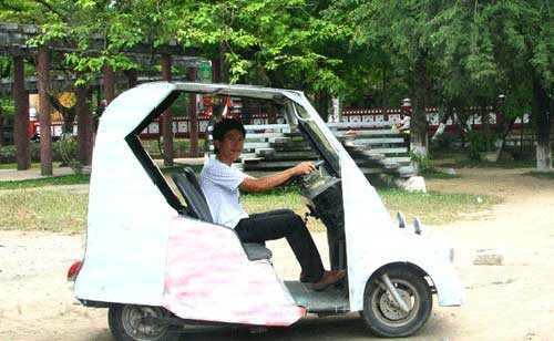 Xe điện từ phế thải