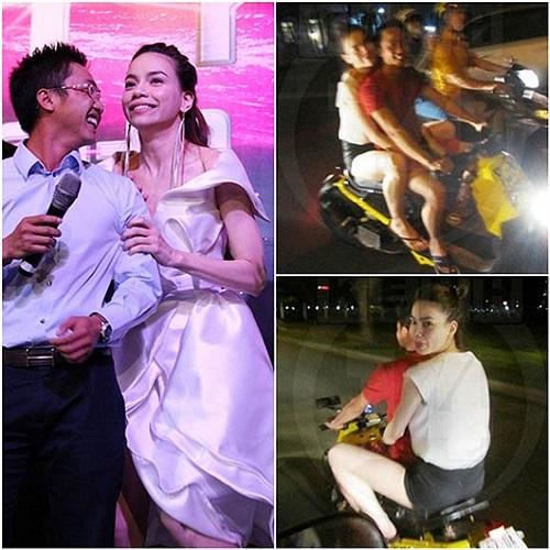 Không lâu sau đó, Hà Hồ - Cường Đô la gây ồn ào dư luận khi đi xe máy mà không đội mũ bảo hiểm.