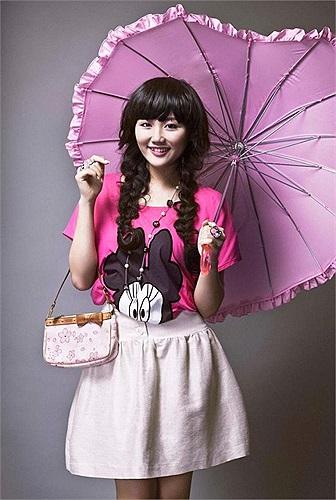 Văn Mai Hương xì tin và đáng yêu trong trang phục cute.