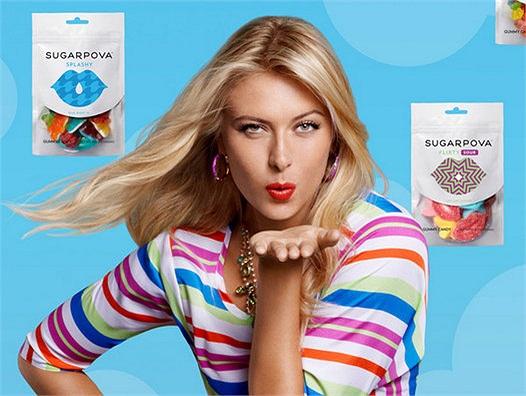Có tin đồn Sharapova tính đổi họ thành Sugarpova cho tiện phát triển thương hiệu kẹo của cô
