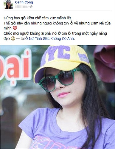Kim Oanh cho rằng đừng bao giờ kiềm chế cảm xúc mãnh liệt, bởi thế giới này cần những người không xin lỗi vì đam mê của mình.