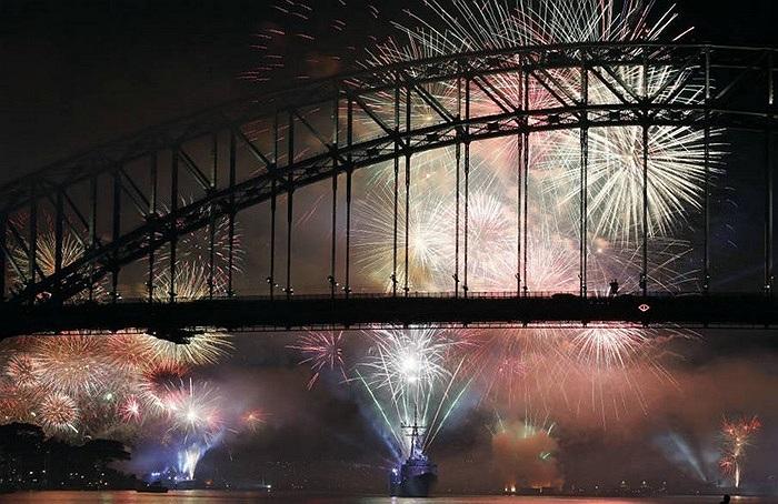 Màn trình diễn pháo hoa ở cảng Sydney