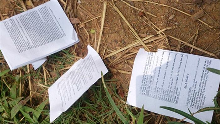 Tại trường THPT Tân Lập (huyện Đan Phượng, Hà Nội), THPT Trần Quốc Tuấn (huyện Từ Liêm, Hà Nội) phao thi cũng rải rác gần cổng trường và tuyến đường Mỹ Đình.