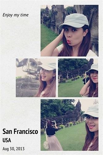 Lưu Thiên Hương đang có chuyến du lịch dài ngày ở nước ngoài.