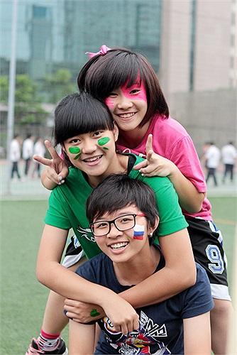 Muôn sắc màu của tuổi học trò.