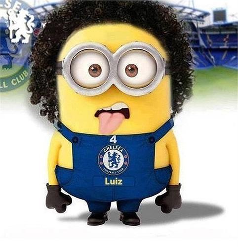 David Luiz cùng phong cách thè lưỡi đáng yêu